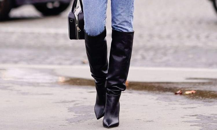 Details about  /Elastic Women Slim Satin Stretch Winter Over The Knee Shoes  Long Booties Boots@